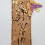 Dandelion orange papillon violet 2